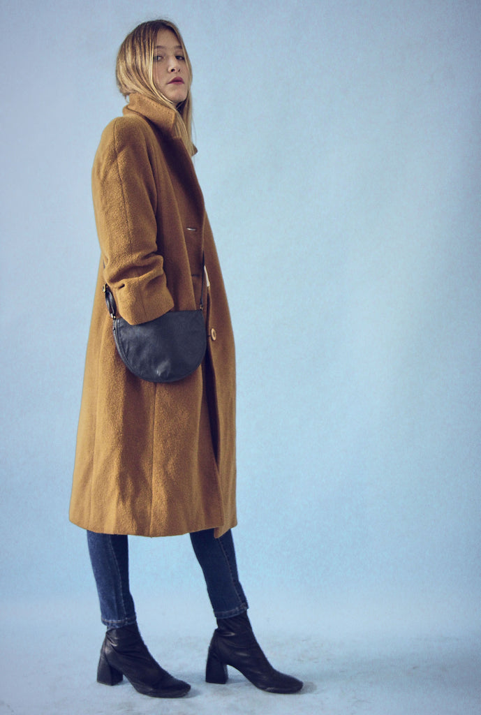Vintage Wool Mohair Camel Winter Coat