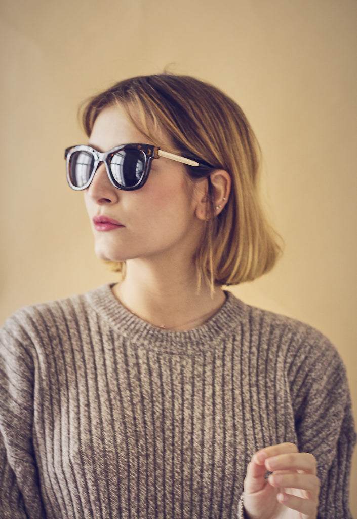 Tortoiseshell Gold Arm Sunglasses