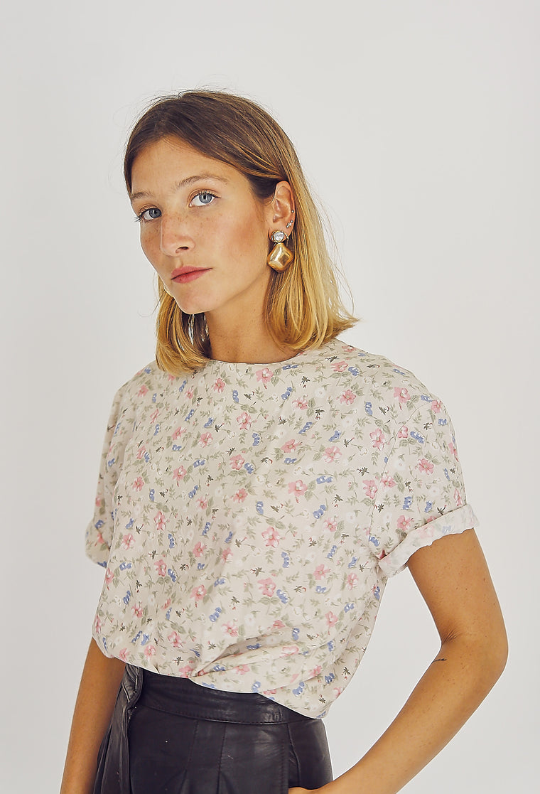 Pretty Floral Print Blouse