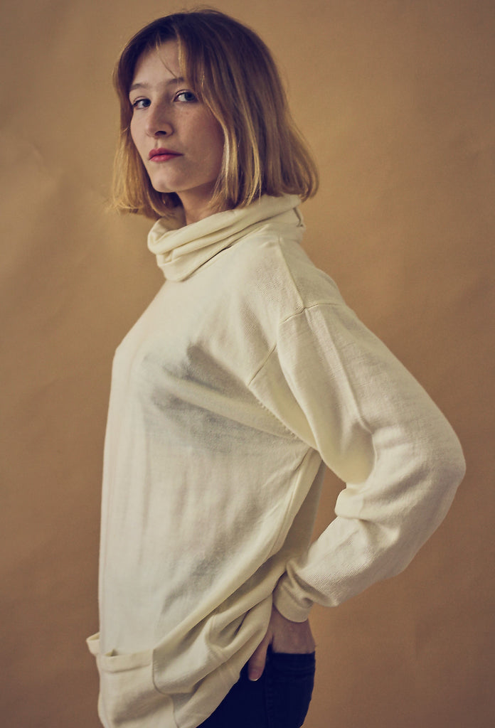 Cream Fine Knit Wool Jumper