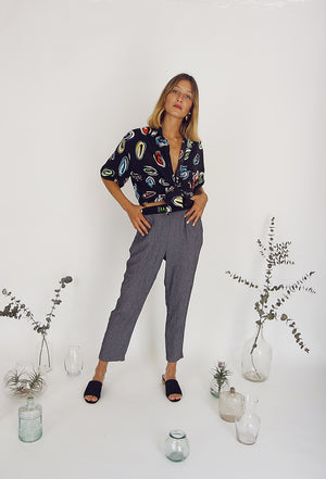 90s Vintage Tapered Leg Trousers