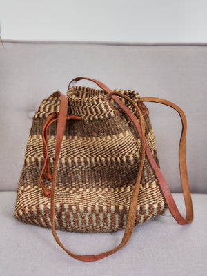 Large Woven Hessian Basket Bag