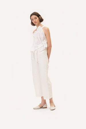 Dora Denim Pants White
