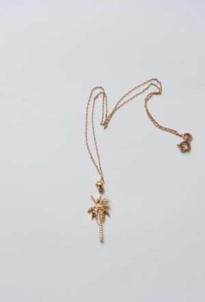Amélie Gold Palm Tree Pendant Necklace