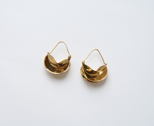 Claudine Statement Gold Earrings