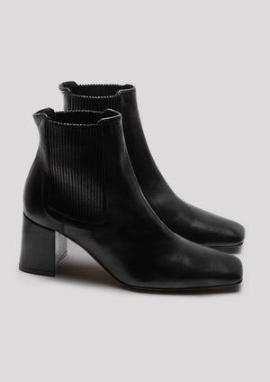 Beta Black Napa Leather Boots