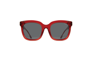 Harley Large Square Ruby Sunglasses