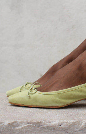 Copy of Mina Summer Nectar Suede Ballet Pumps