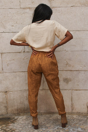 Tapered Bronze Trousers