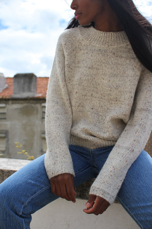 Oatmeal Speckled knit