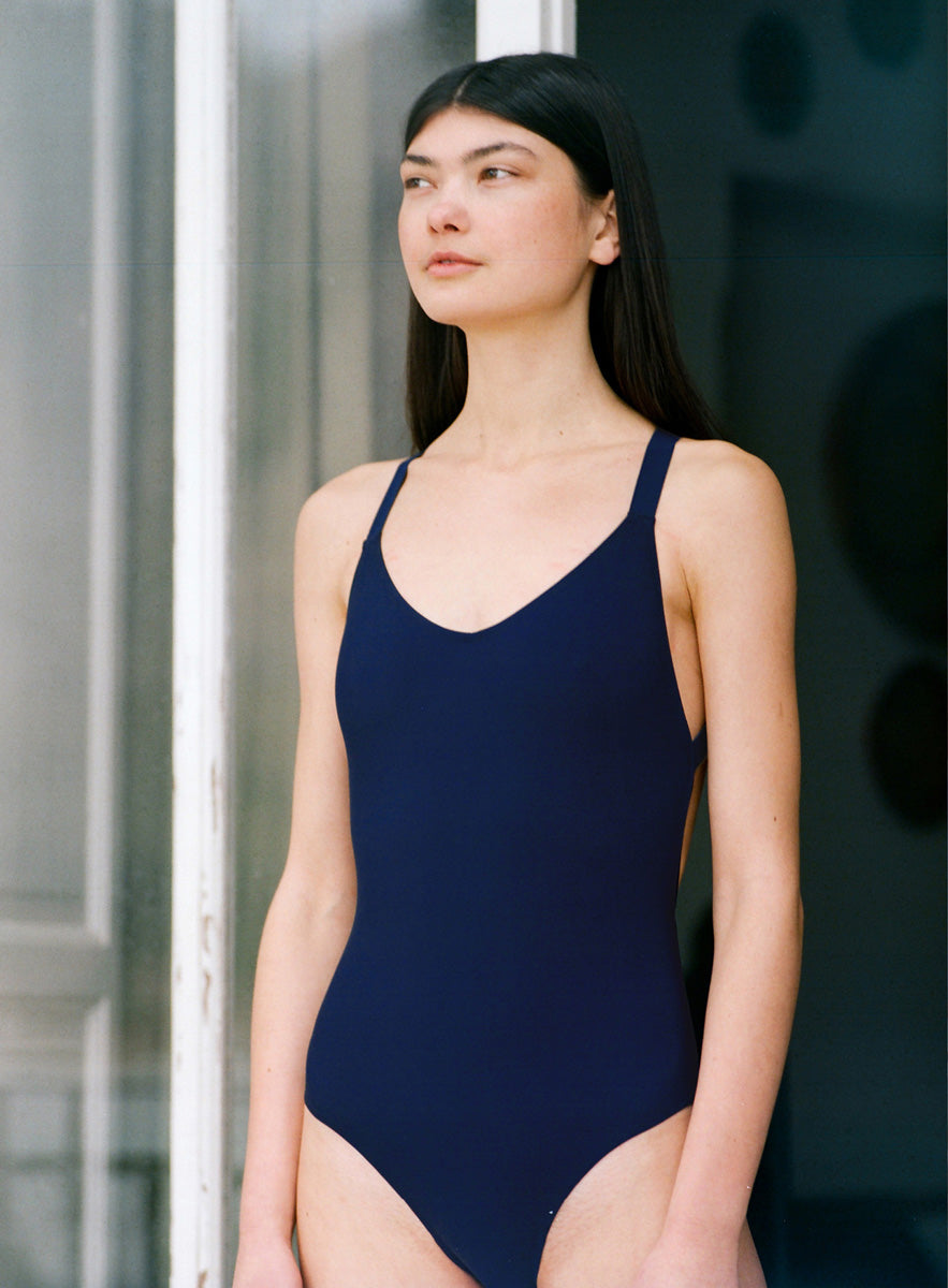 Uno One-Piece Swimsuit Navy