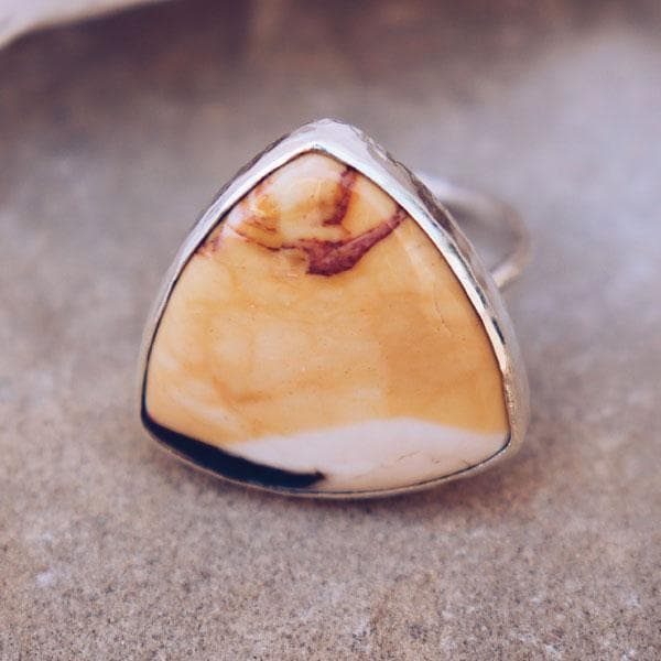 Petrified Driftwood Elfin Ring