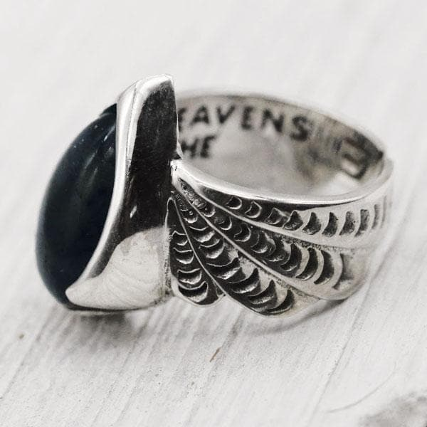 Winged Ring :: labradorite