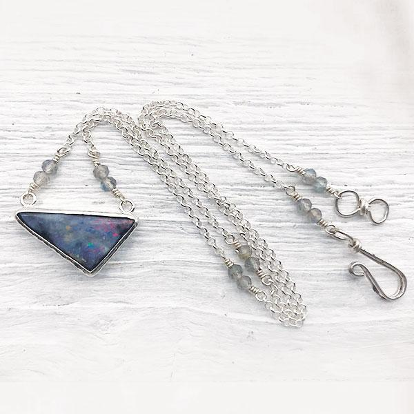 Lightening Ridge Opal Necklace