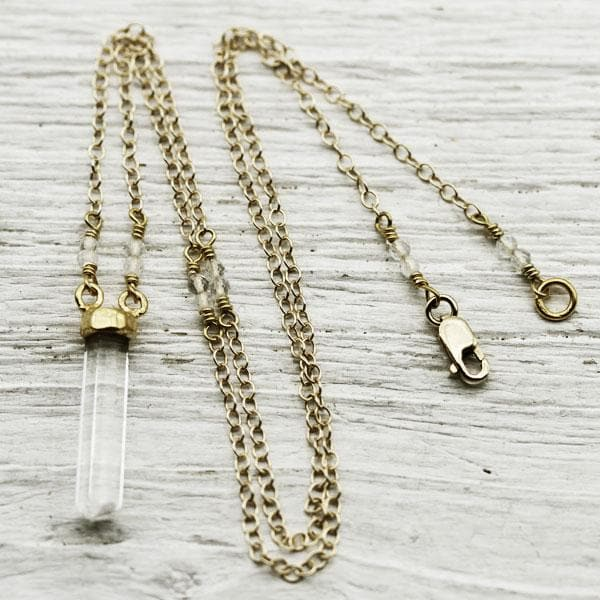 Crystal Wand Necklace :: See more colors