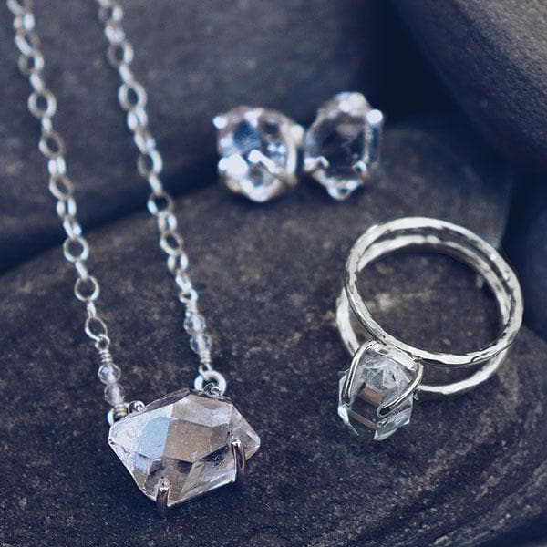 Herkimer Diamond Ring :: Silver