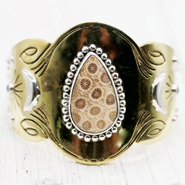 Spirit Cuff :: Sunflower Coral