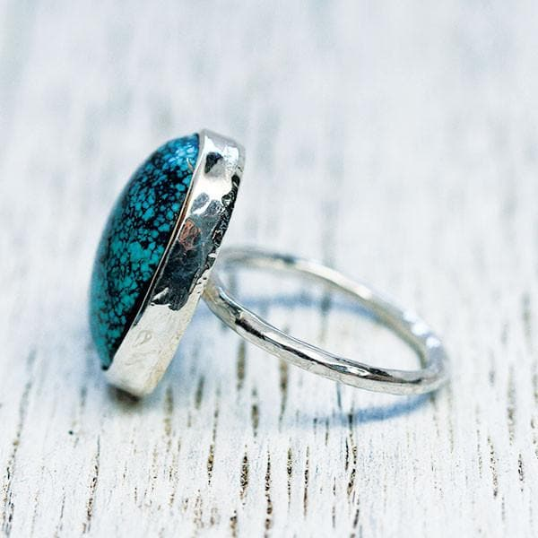 Silver Turquoise Elfin Ring