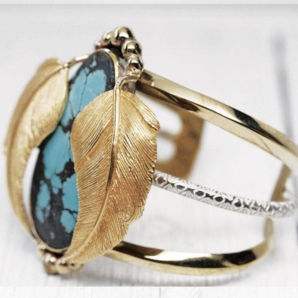 Gold NV Turquoise Kinship Cuff