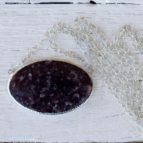 Silver Lepidolite Necklace