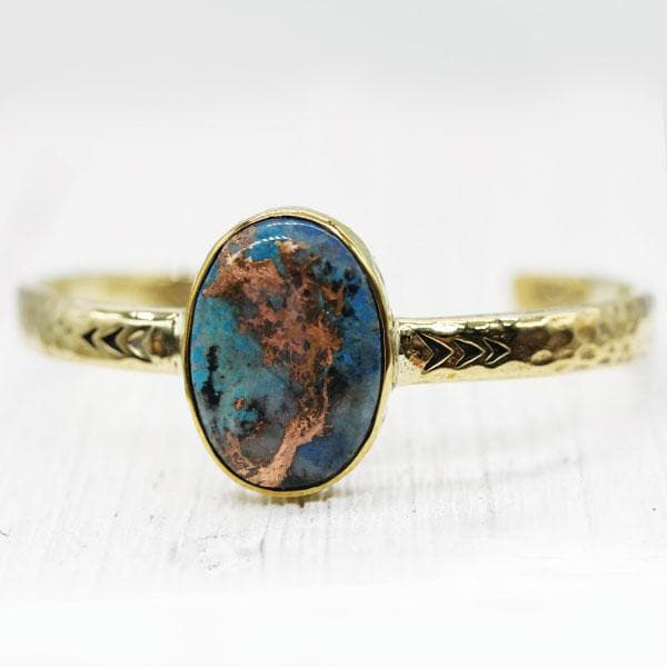 Heirloom Cuff : Bluebird Copper