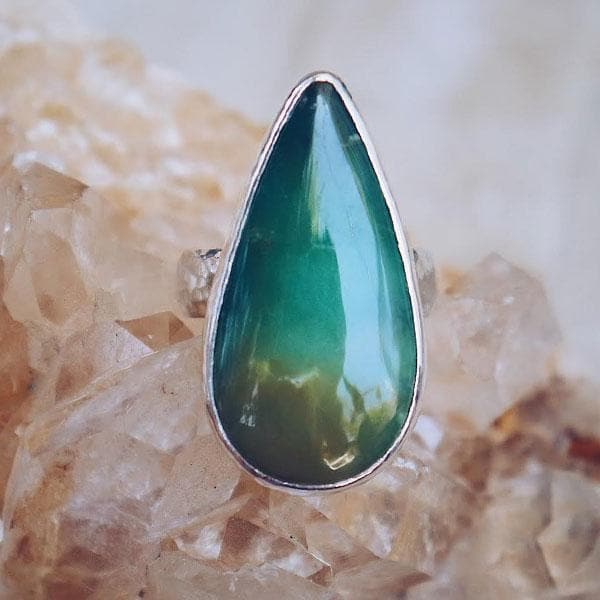 Moss Chrysoprase Ring