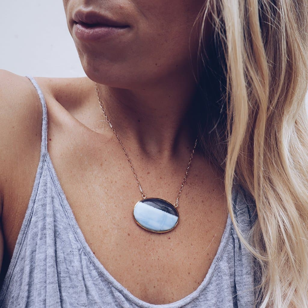 Periwinkle Opal Necklace