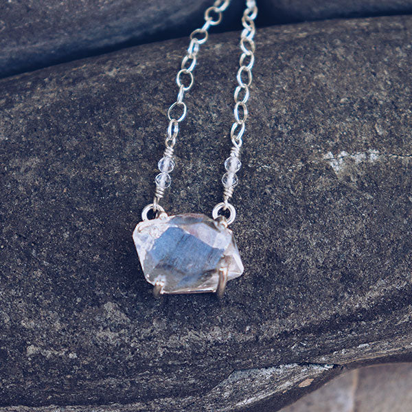 Herkimer Diamond Necklace :: Silver