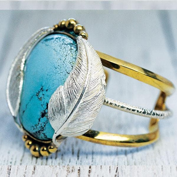 Silver Turquoise Flight Cuff