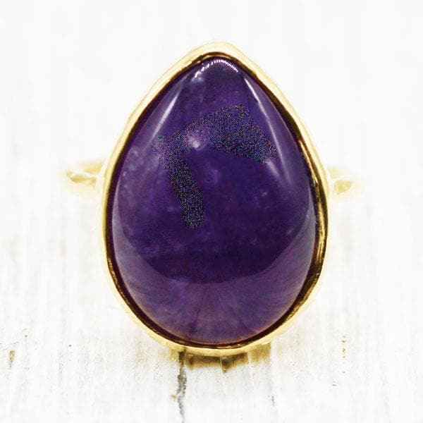 Amethyst Tear Elfin Ring