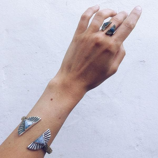 Shape Shift Cuff :: Moonstone