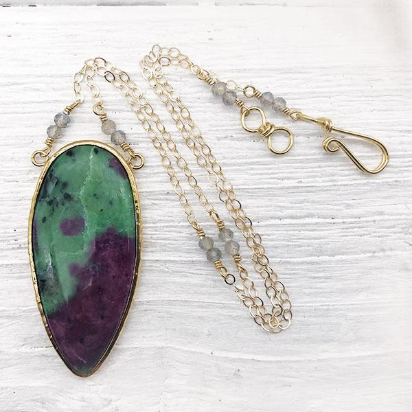 Grand Ruby Zoisite Necklace