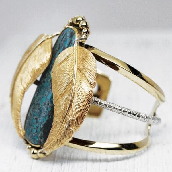 Gold NM Turquoise Kinship Cuff