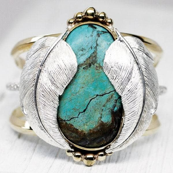 Silver NV Turquoise Kinship Cuff