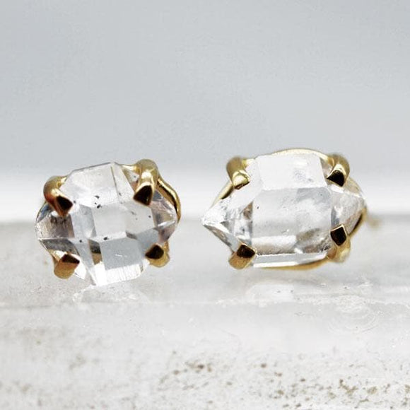 Herkimar Diamond Stud Earrings :: Gold