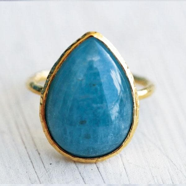 Aquamarine Elfin Ring