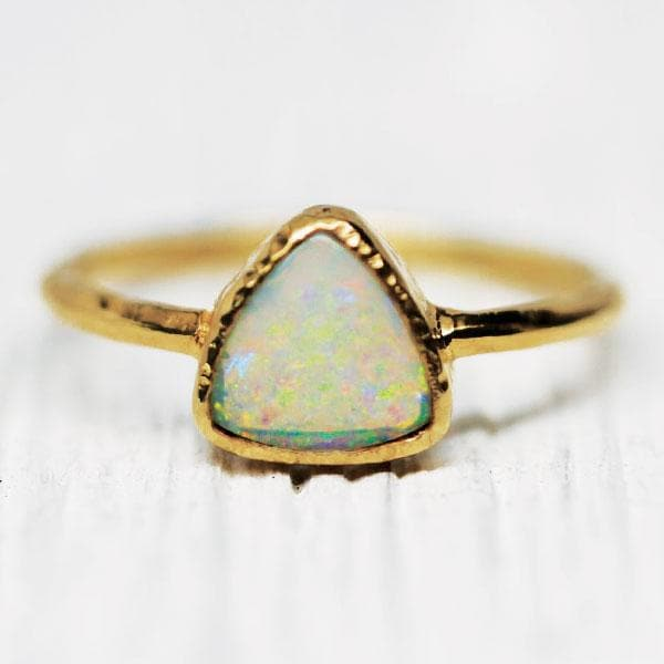 Stardust Opal Ring : Pyramid