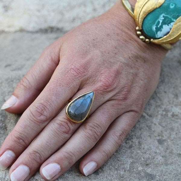Copy of Rainbow Labradorite Elfin Ring
