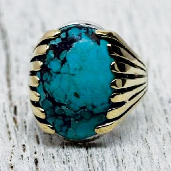 Blossom Ring :: Turquoise