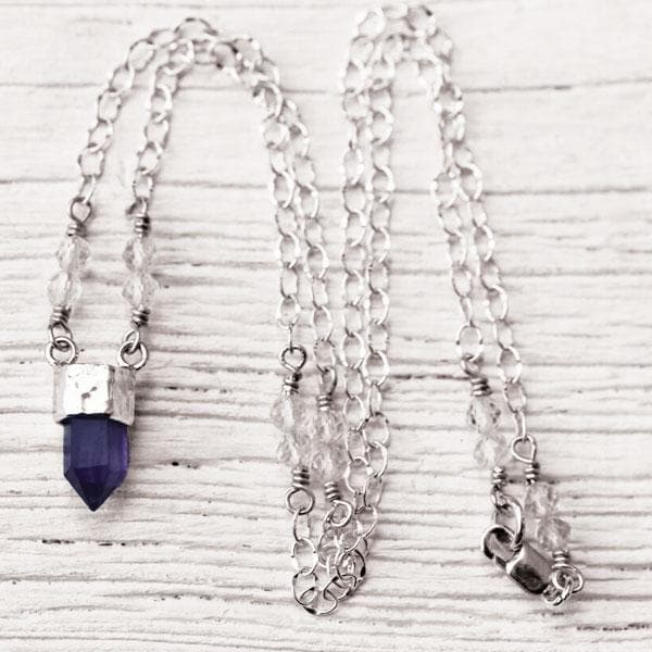Amethyst Wand Necklace :: See more colors