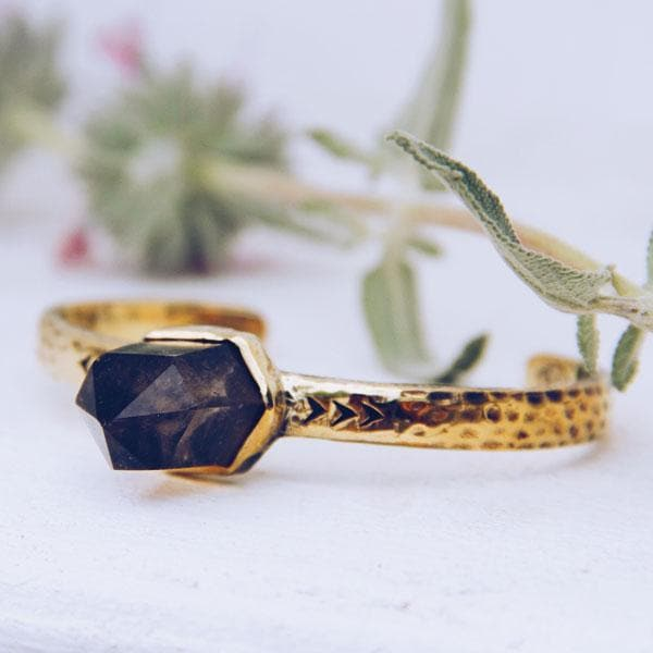 Heirloom Cuff || Smoky Quartz Wand