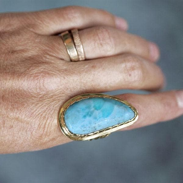 Ancient Wave Ring : Larimar