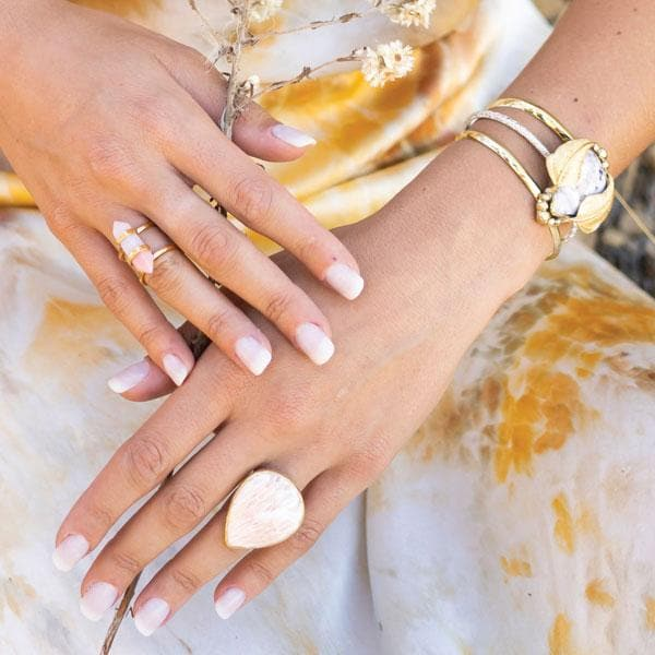 Blush Opal Wand Ring :: see more colors