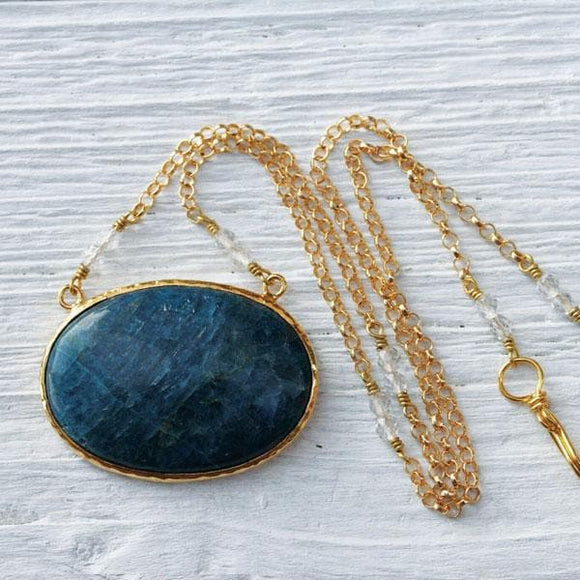 Gold Apatite Necklace