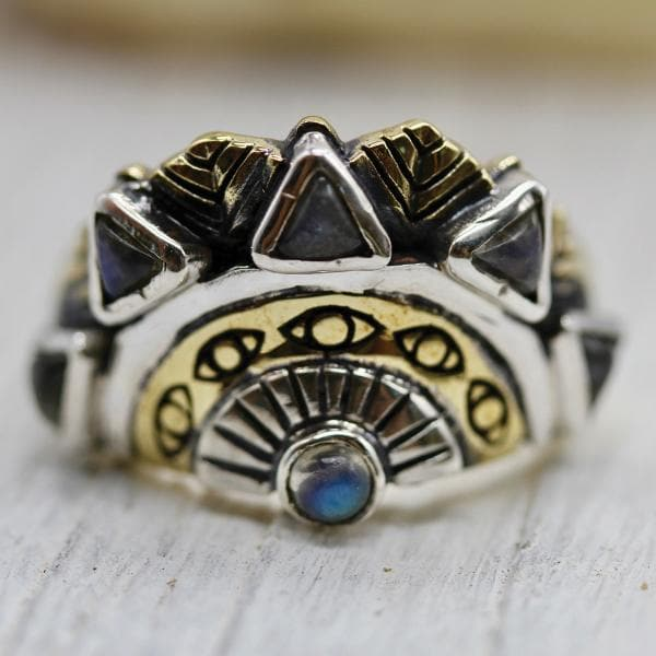 Sunbeam Ring :: Moonstone