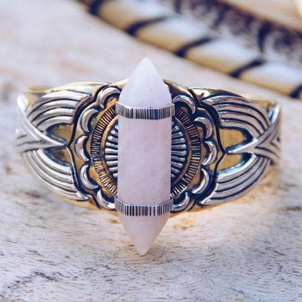 Guardian Cuff :: Rose Quartz
