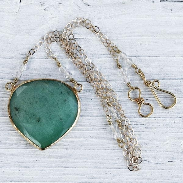 Faceted Chrysoprase Necklace