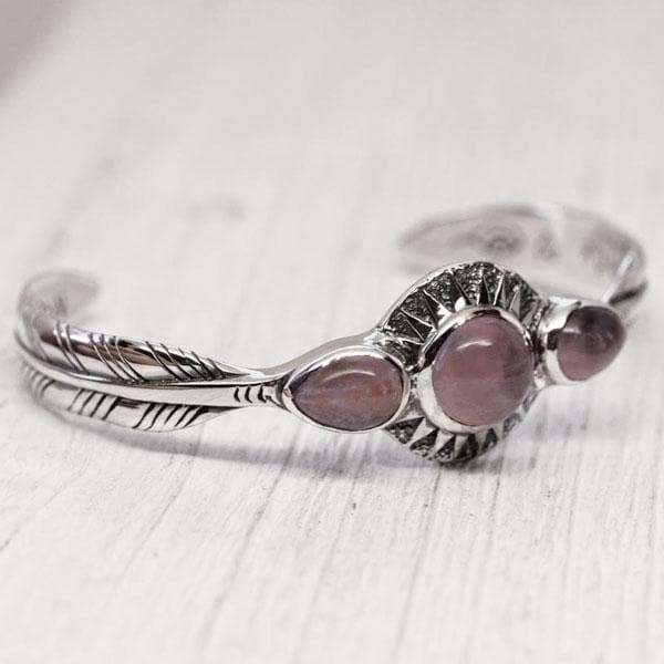Radiate Cuff :: Rose Quartz