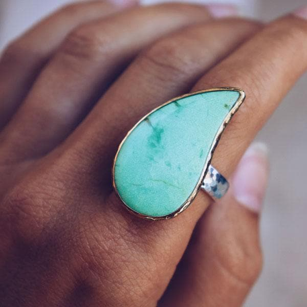 Shamrock Chrysoprase Ring