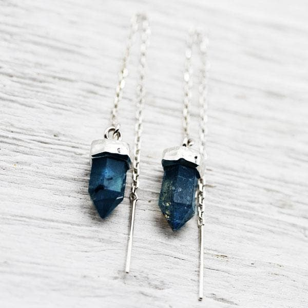 Labradorite Threader Earrings :: See more colors